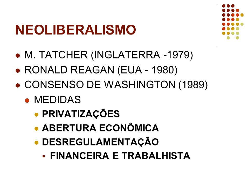 NEOLIBERALISMO M. TATCHER (INGLATERRA -1979)