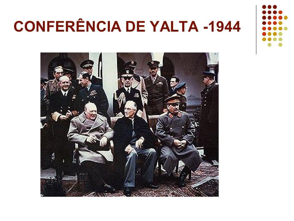 CONFERÊNCIA DE YALTA -1944