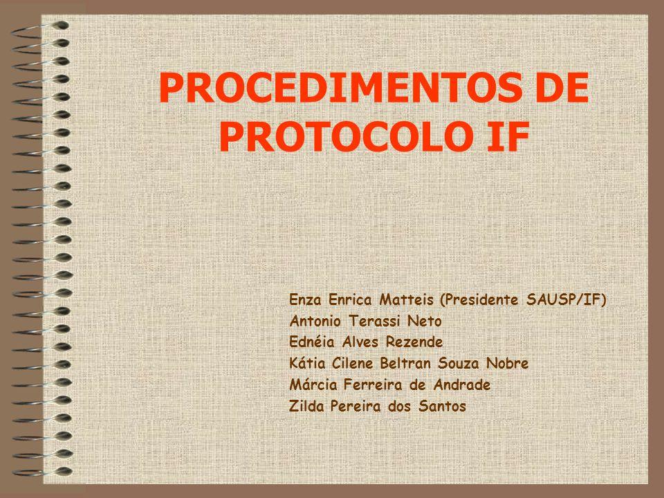PROCEDIMENTOS DE PROTOCOLO IF