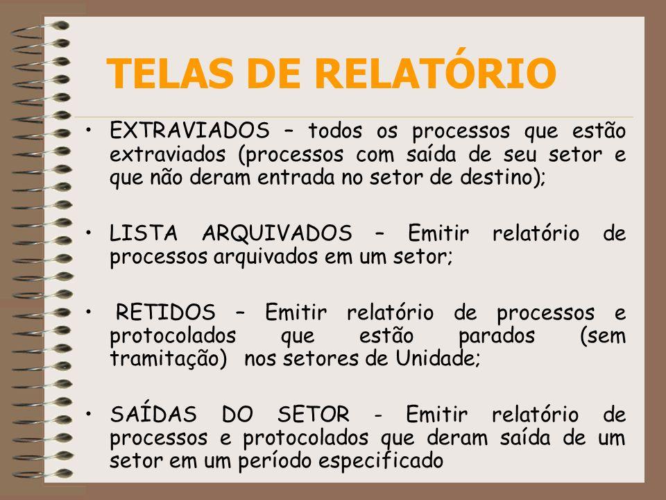 TELAS DE RELATÓRIO