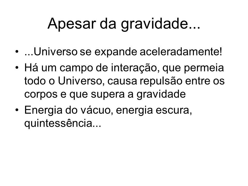 Apesar da gravidade... ...Universo se expande aceleradamente!