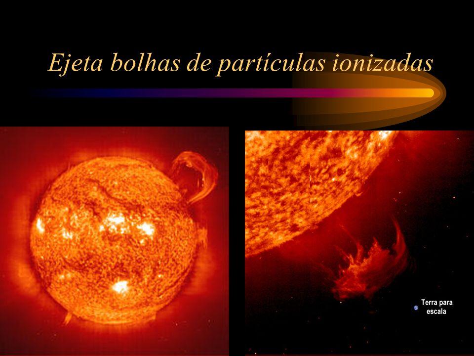 Ejeta bolhas de partículas ionizadas