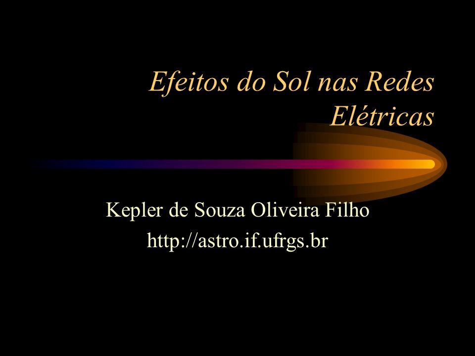 Efeitos do Sol nas Redes Elétricas