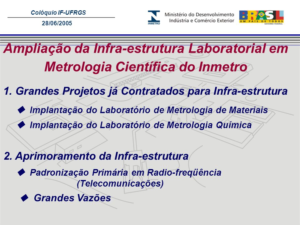 Ampliação da Infra-estrutura Laboratorial em