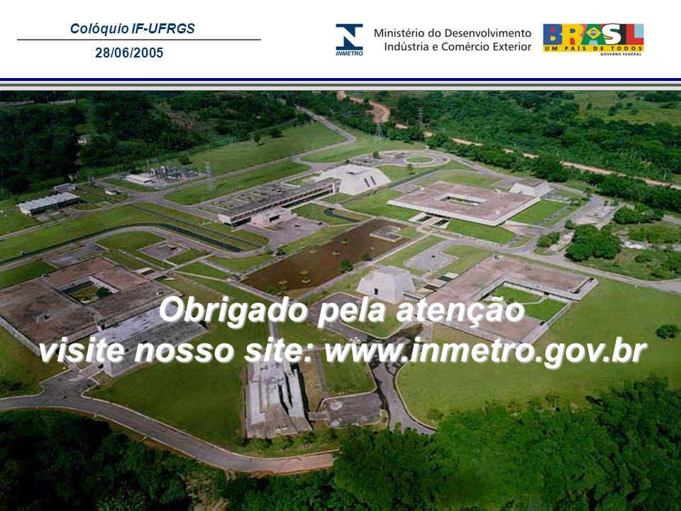 visite nosso site: www.inmetro.gov.br