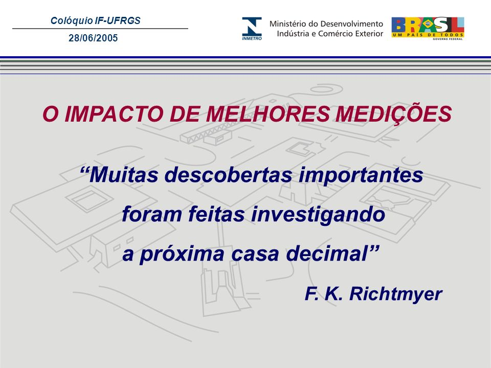 O IMPACTO DE MELHORES MEDIÇÕES