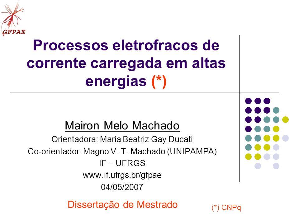 Processos eletrofracos de corrente carregada em altas energias (*)