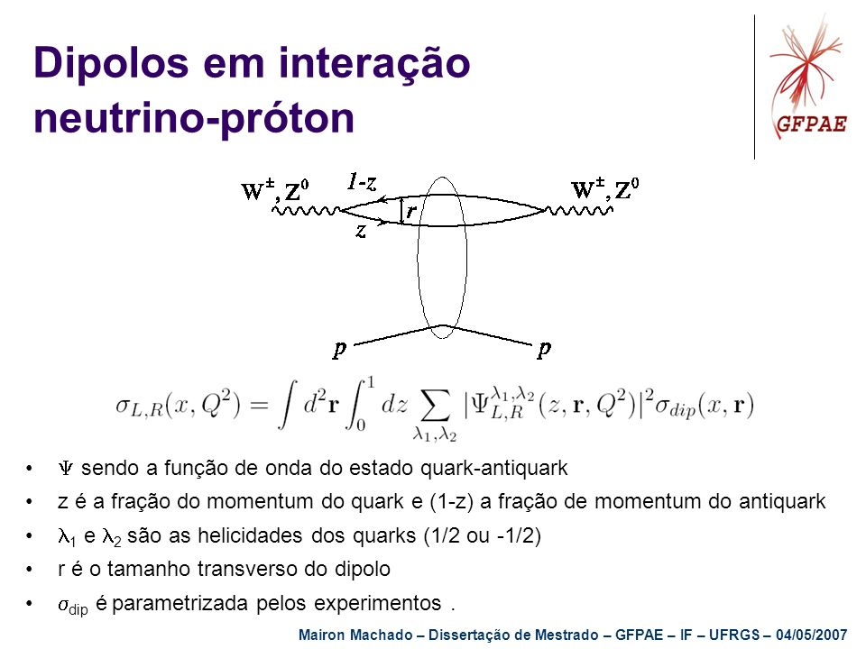 Dipolos em interação neutrino-próton