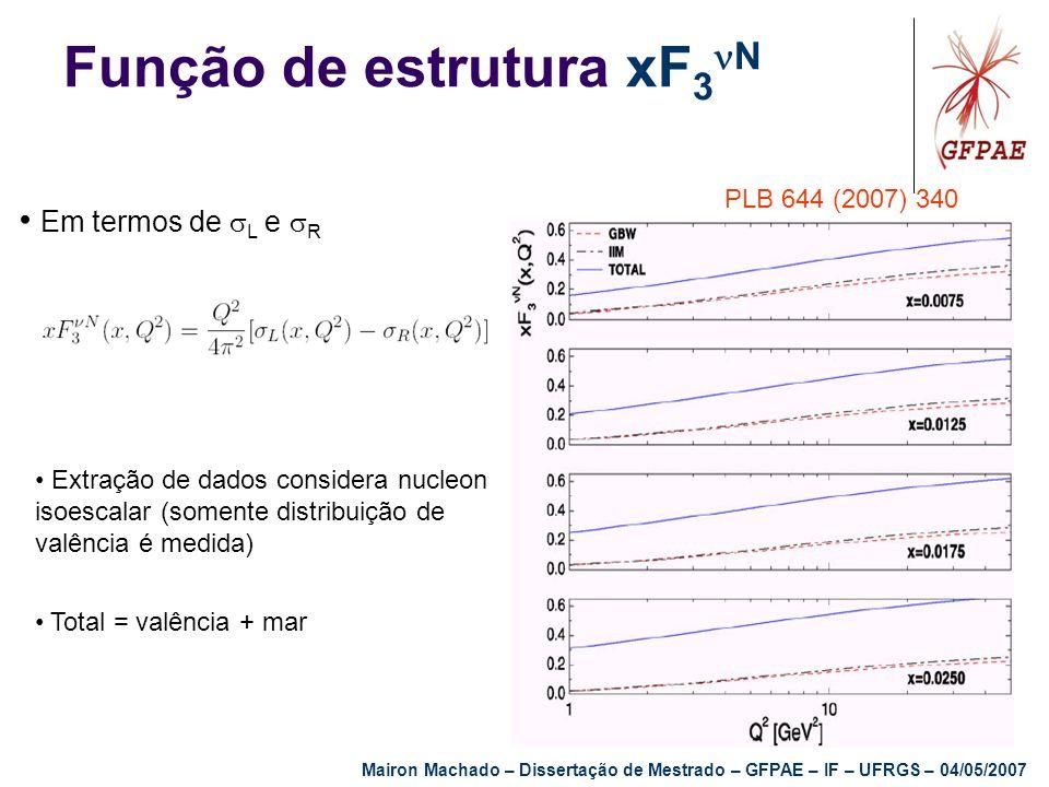 Função de estrutura xF3N