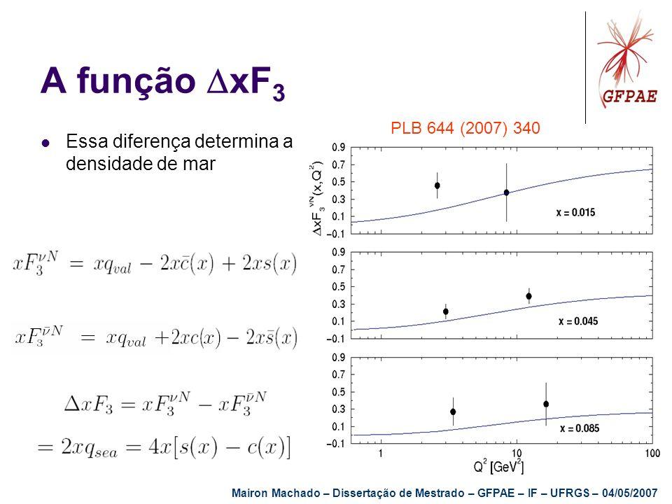 A função xF3 Essa diferença determina a densidade de mar
