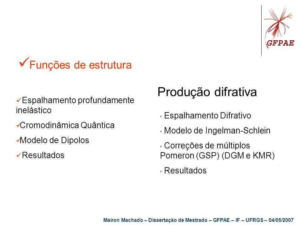 Produção difrativa Funções de estrutura