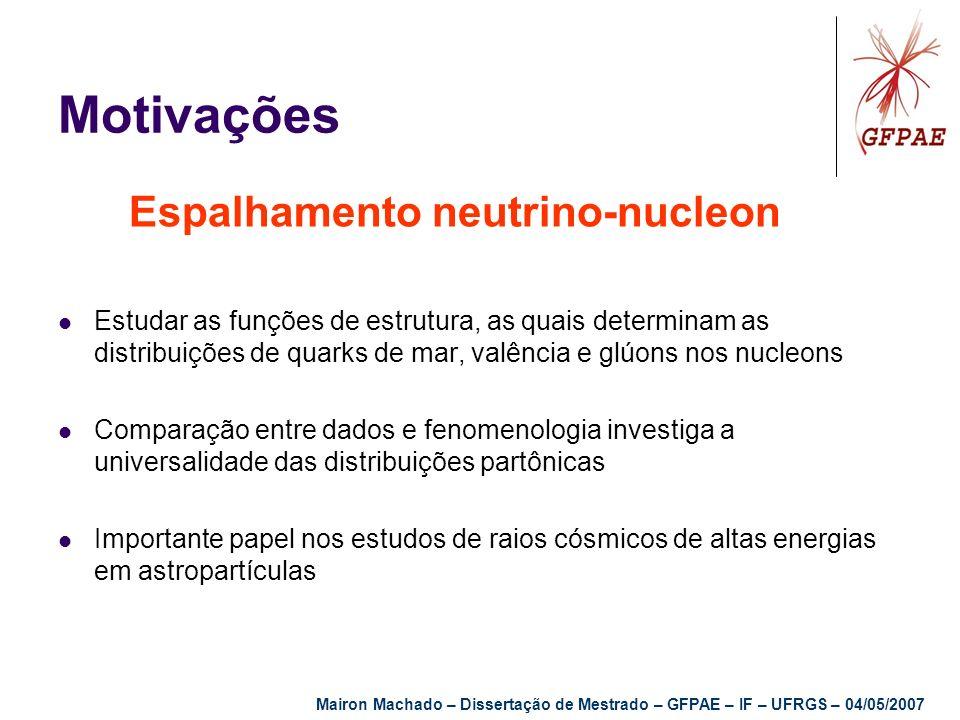Motivações Espalhamento neutrino-nucleon