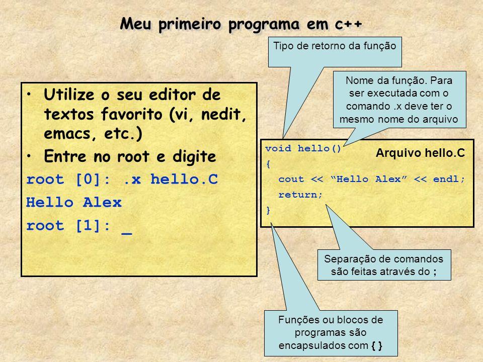 Meu primeiro programa em c++