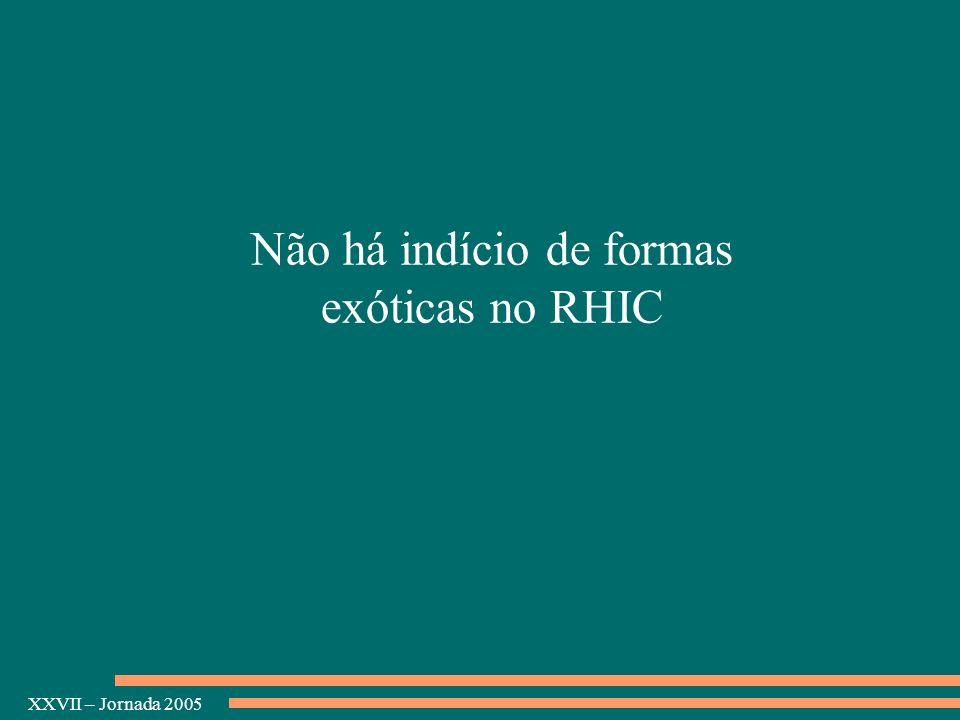 Não há indício de formas exóticas no RHIC