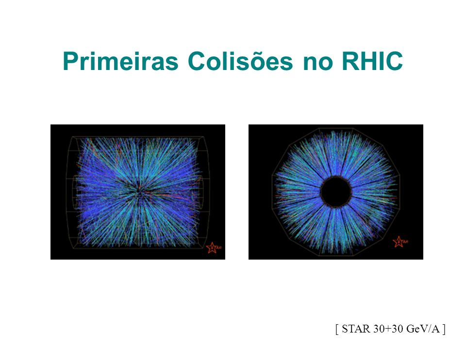 Primeiras Colisões no RHIC