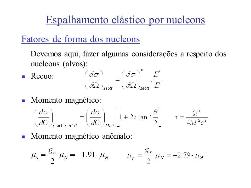 Espalhamento elástico por nucleons