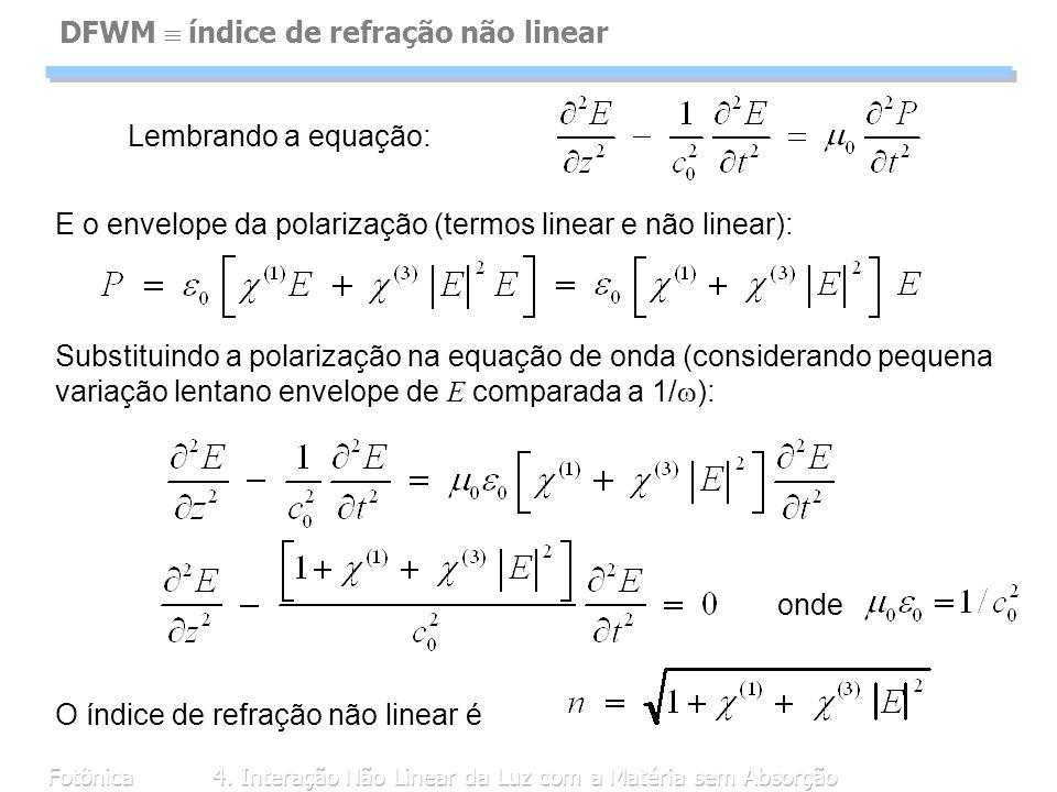 DFWM  índice de refração não linear