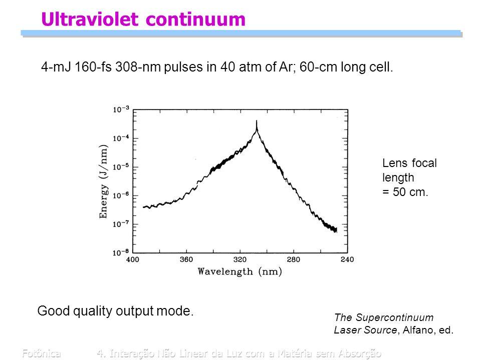 Ultraviolet continuum