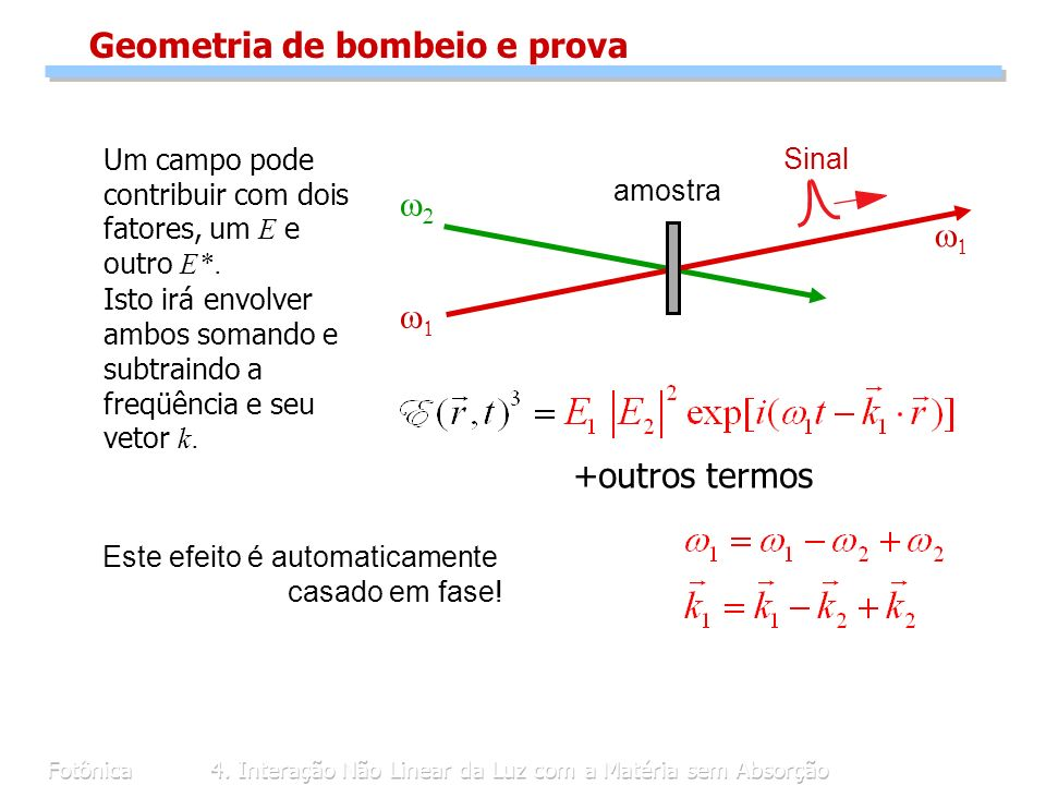 Geometria de bombeio e prova