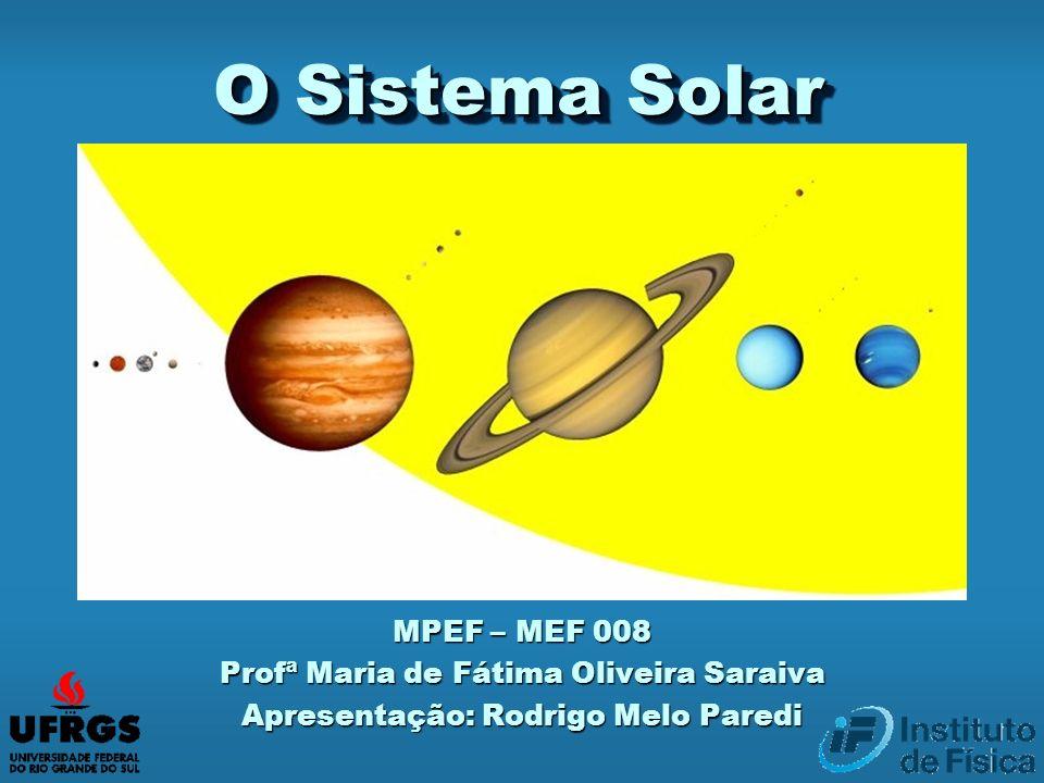 O Sistema Solar MPEF – MEF 008 Profª Maria de Fátima Oliveira Saraiva