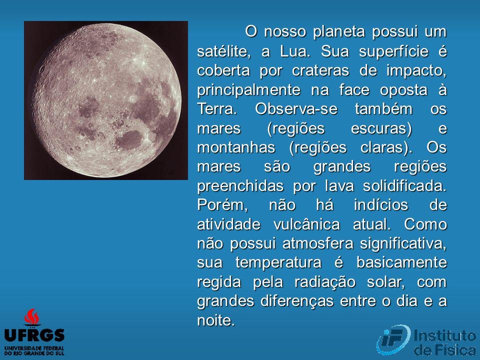 O nosso planeta possui um satélite, a Lua