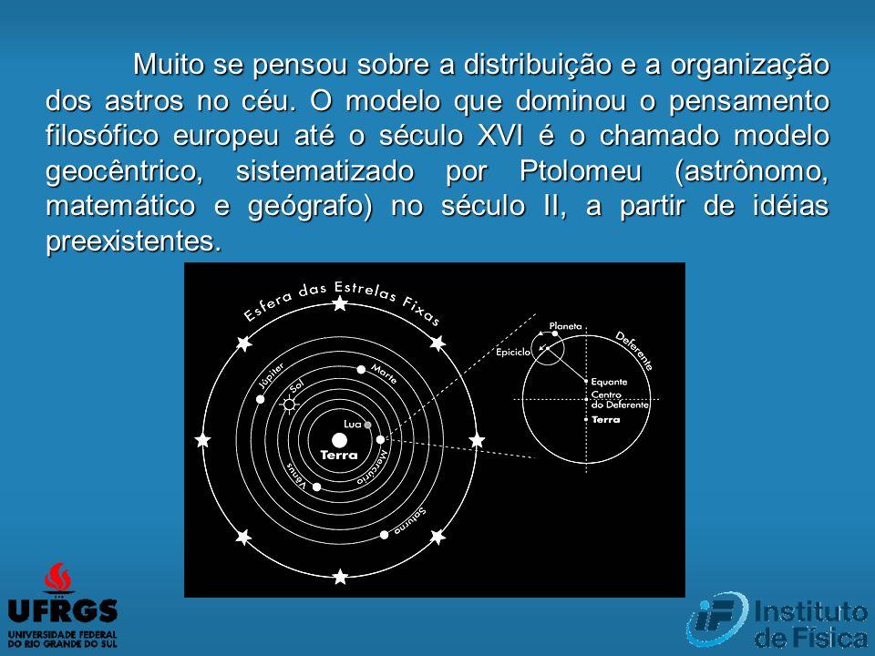 Muito se pensou sobre a distribuição e a organização dos astros no céu
