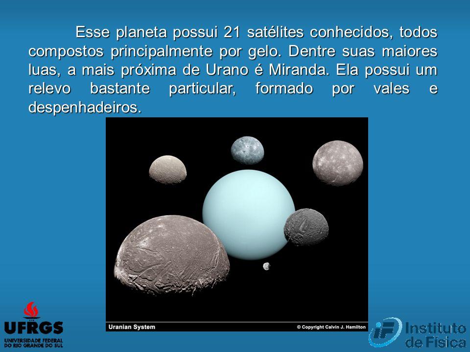 Esse planeta possui 21 satélites conhecidos, todos compostos principalmente por gelo.