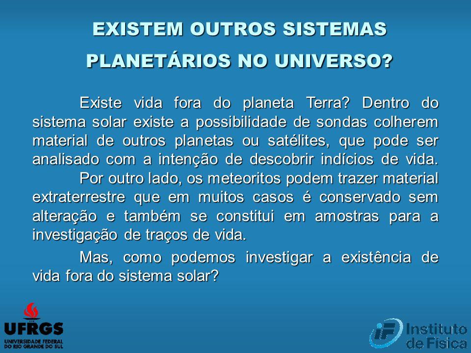 EXISTEM OUTROS SISTEMAS PLANETÁRIOS NO UNIVERSO