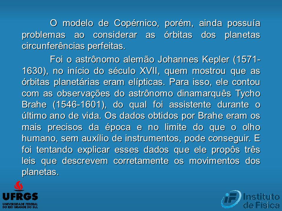 O modelo de Copérnico, porém, ainda possuía problemas ao considerar as órbitas dos planetas circunferências perfeitas.