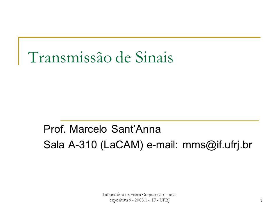 Prof. Marcelo Sant'Anna Sala A-310 (LaCAM) e-mail: mms@if.ufrj.br