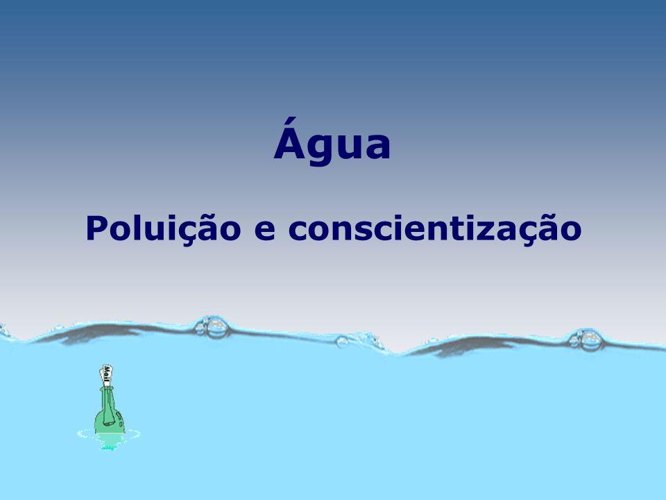Água Poluição e conscientização
