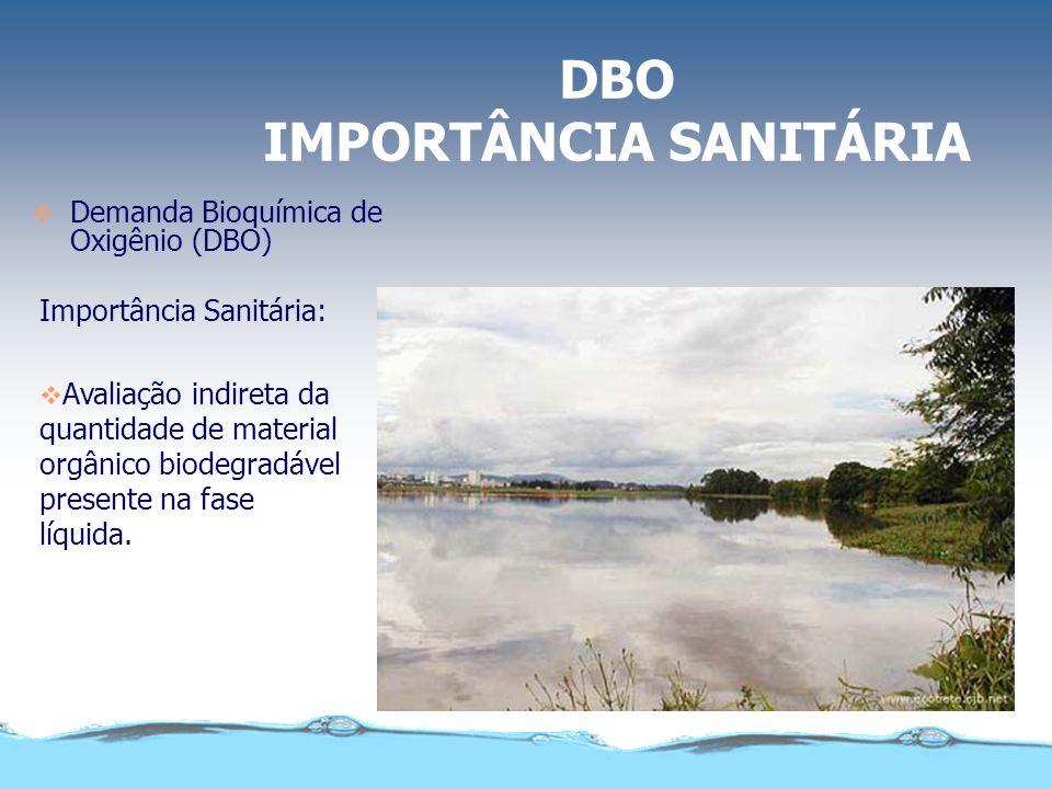 DBO IMPORTÂNCIA SANITÁRIA