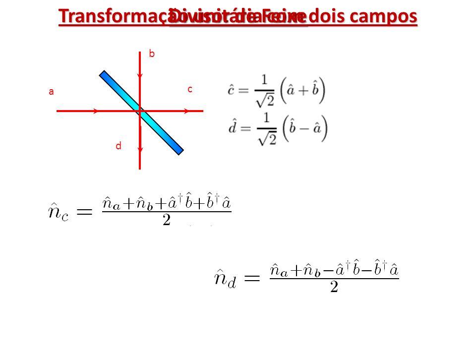 Transformação unitária com dois campos