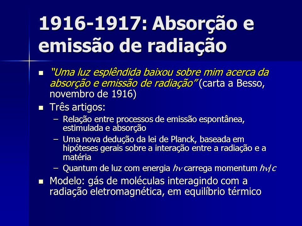 1916-1917: Absorção e emissão de radiação