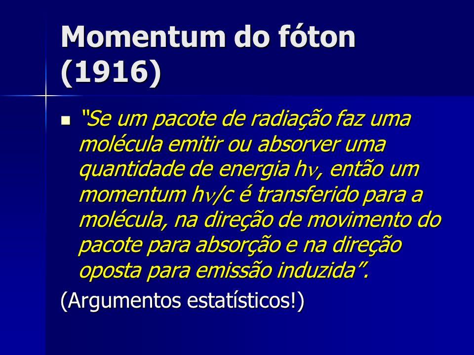 Momentum do fóton (1916)