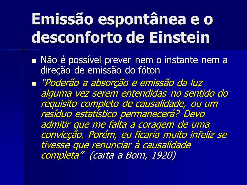 Emissão espontânea e o desconforto de Einstein