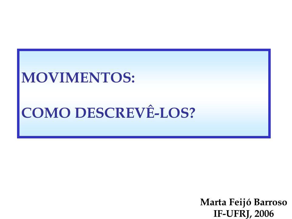 MOVIMENTOS: COMO DESCREVÊ-LOS Marta Feijó Barroso IF-UFRJ, 2006