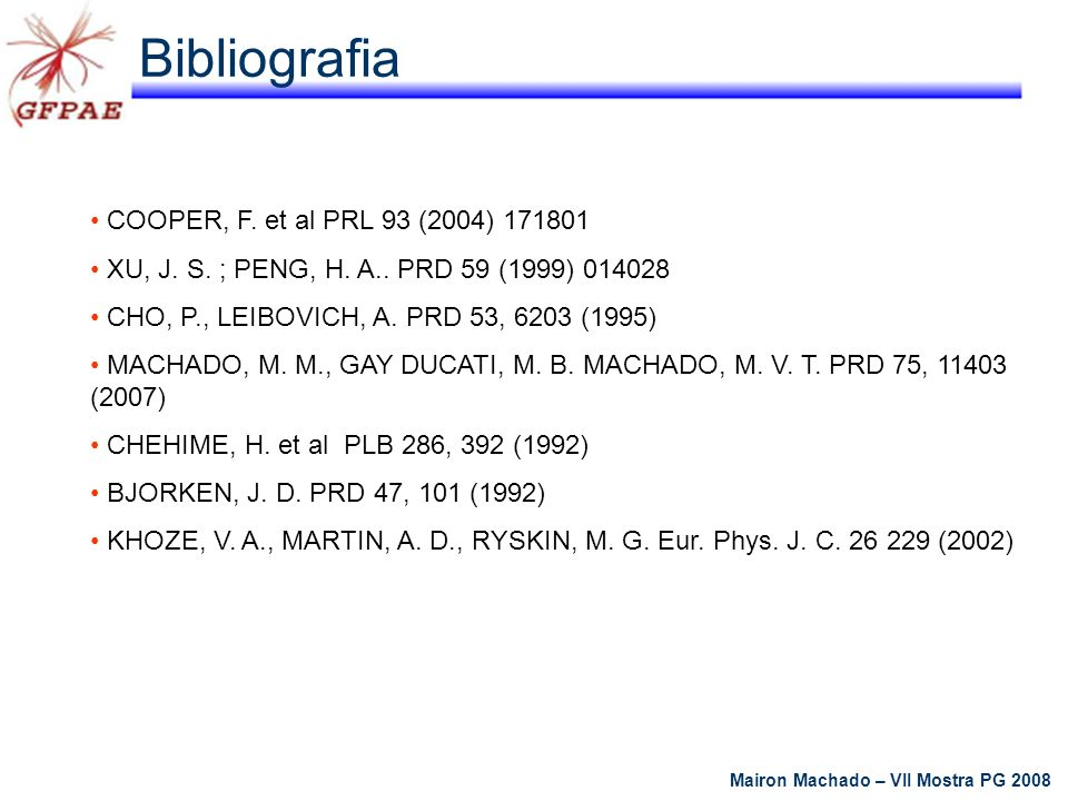 Bibliografia COOPER, F. et al PRL 93 (2004) 171801