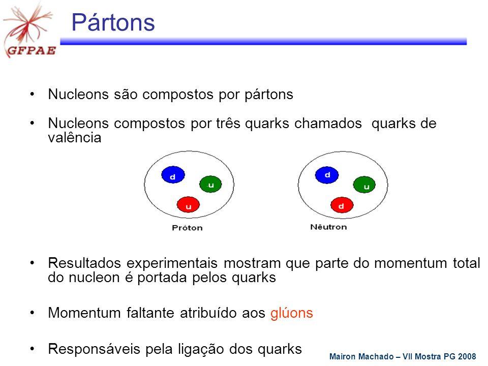 Pártons Nucleons são compostos por pártons
