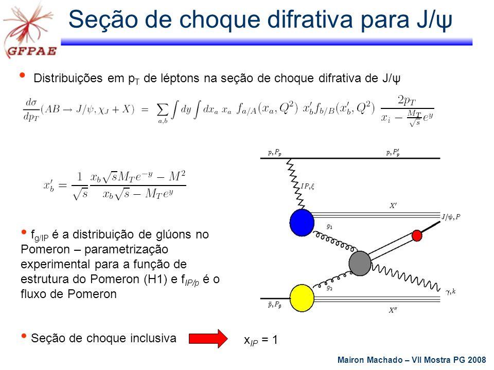 Seção de choque difrativa para J/ψ