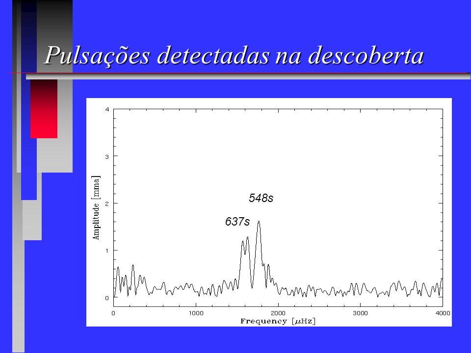 Pulsações detectadas na descoberta