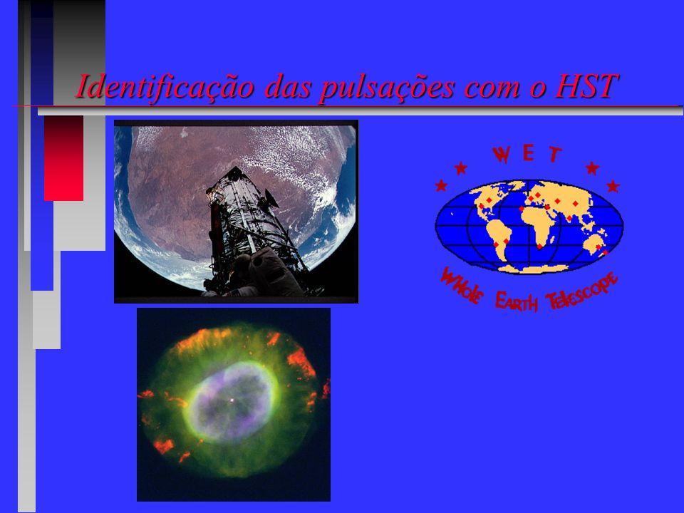 Identificação das pulsações com o HST