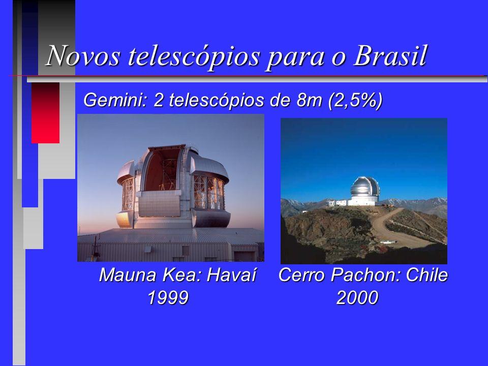 Novos telescópios para o Brasil