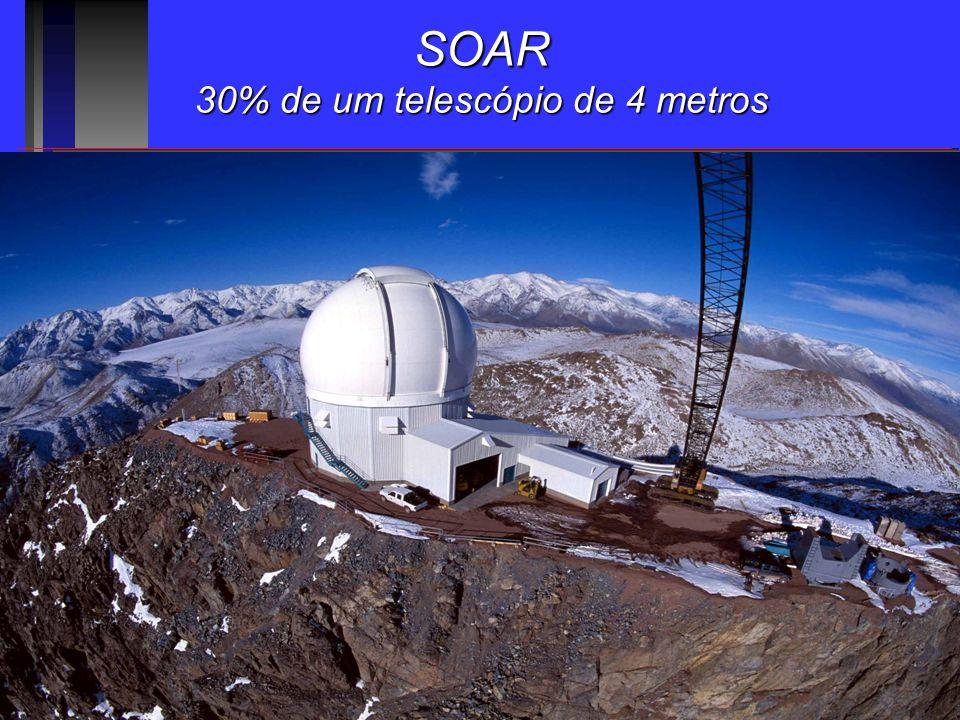 30% de um telescópio de 4 metros