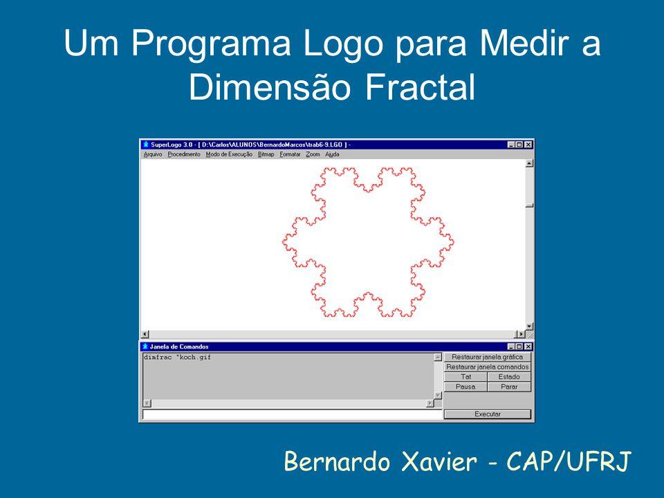 Um Programa Logo para Medir a Dimensão Fractal