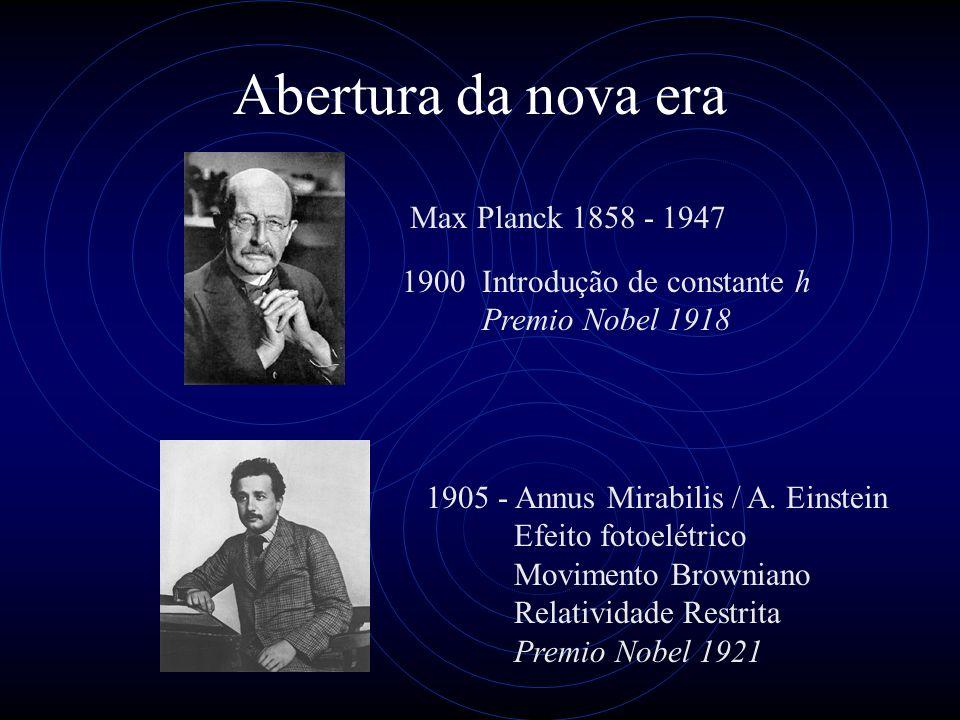 Abertura da nova era Max Planck 1858 - 1947