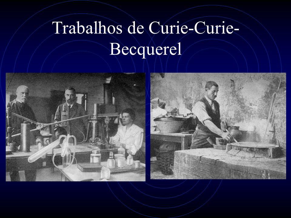 Trabalhos de Curie-Curie-Becquerel