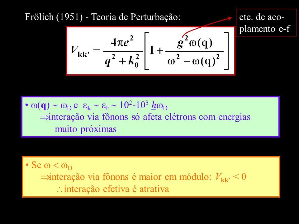 Frölich (1951) - Teoria de Perturbação: