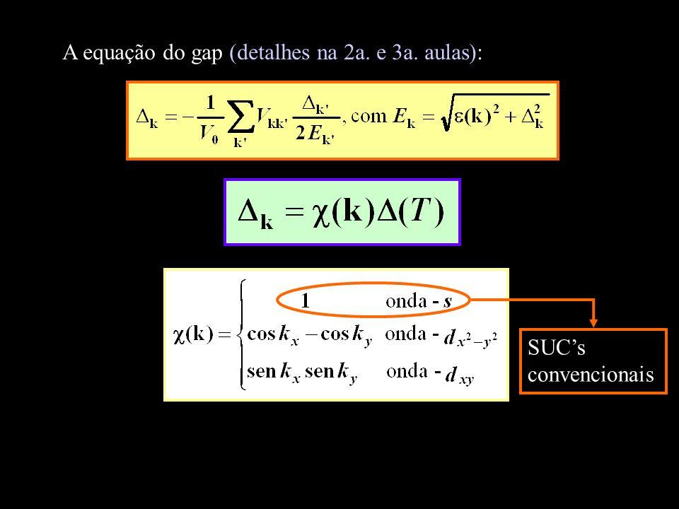 A equação do gap (detalhes na 2a. e 3a. aulas):