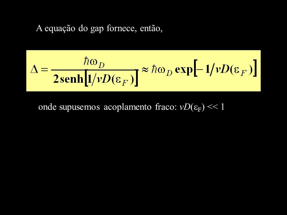 A equação do gap fornece, então,